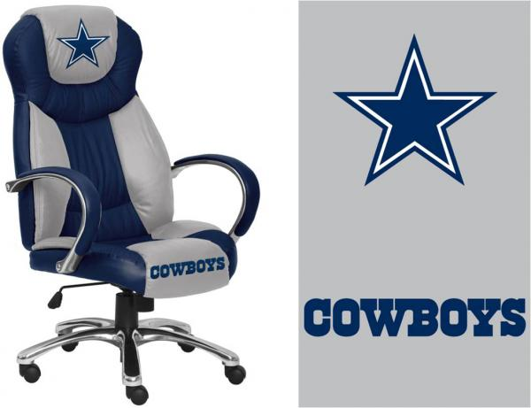 NFL Dallas Cowboys Leather Executive Chair : eBay