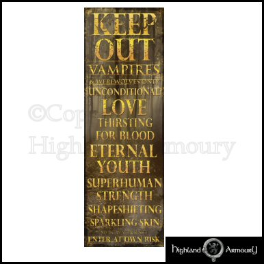 Hosted by EbayShopDesign.com  sc 1 st  eBay & Keep Out - Vampires and Werewolves Only - Poster DOOR | eBay pezcame.com