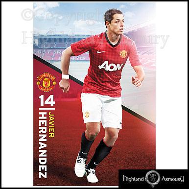 Manchester United Javier Hernandez 2012/13 Poster Man Utd ...