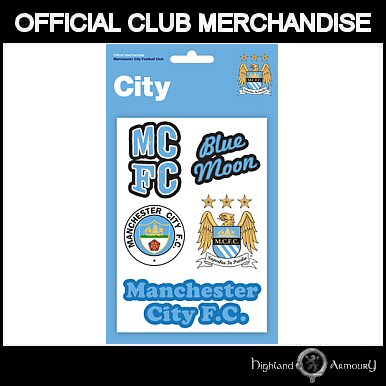 MANCHESTER CITY FOOTBALL CLUB TATTOO PACK OFFICIAL NEW
