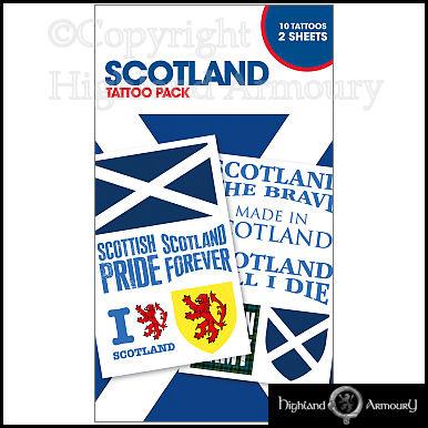 scotland temporary tattoo pack scottish saltire the brave contains 10 tattoos ebay. Black Bedroom Furniture Sets. Home Design Ideas