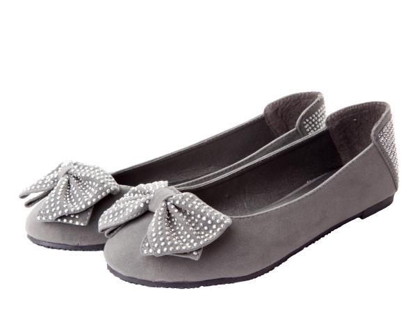 Womens grey flat shoes В Clothing stores online
