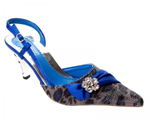Royal Blue Wedding Heels: WOMENS ROYAL BLUE KITTEN HEEL BRIDAL WEDDING EVENING