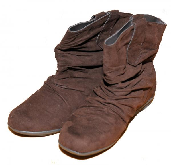 womens brown slouch pixie microsuede ankle boots uk
